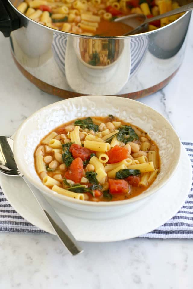 A simple and tasty recipe for pasta fagioli soup. Make this soup for a quick dinner or lunch.