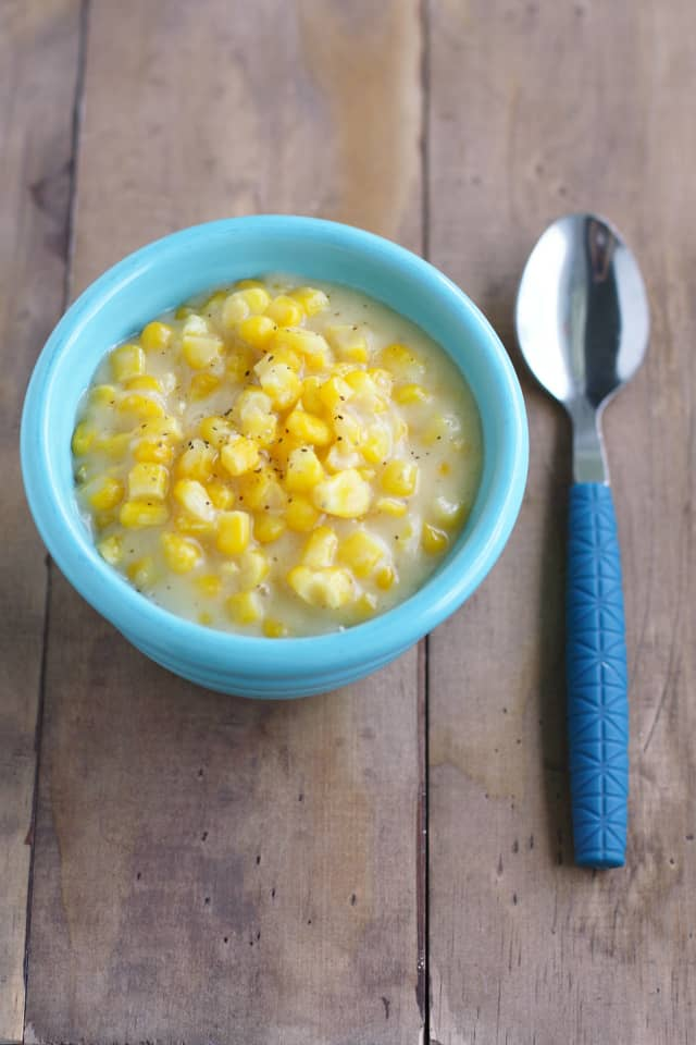 A recipe for creamed corn that's vegan and gluten free. This is a great side for Thanksgiving dinner!