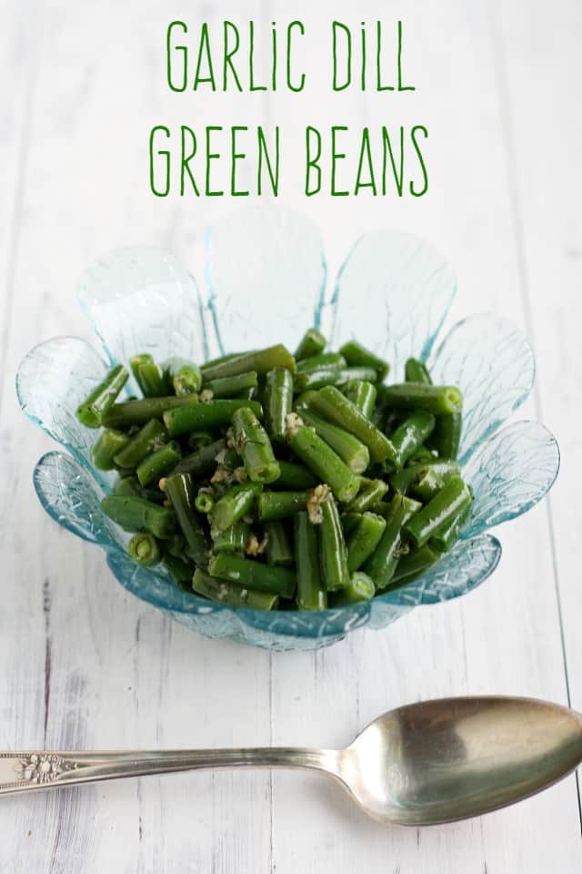 Buttery, garlicky, dilly green beans are a great side dish for chicken or fish, or served over brown rice.