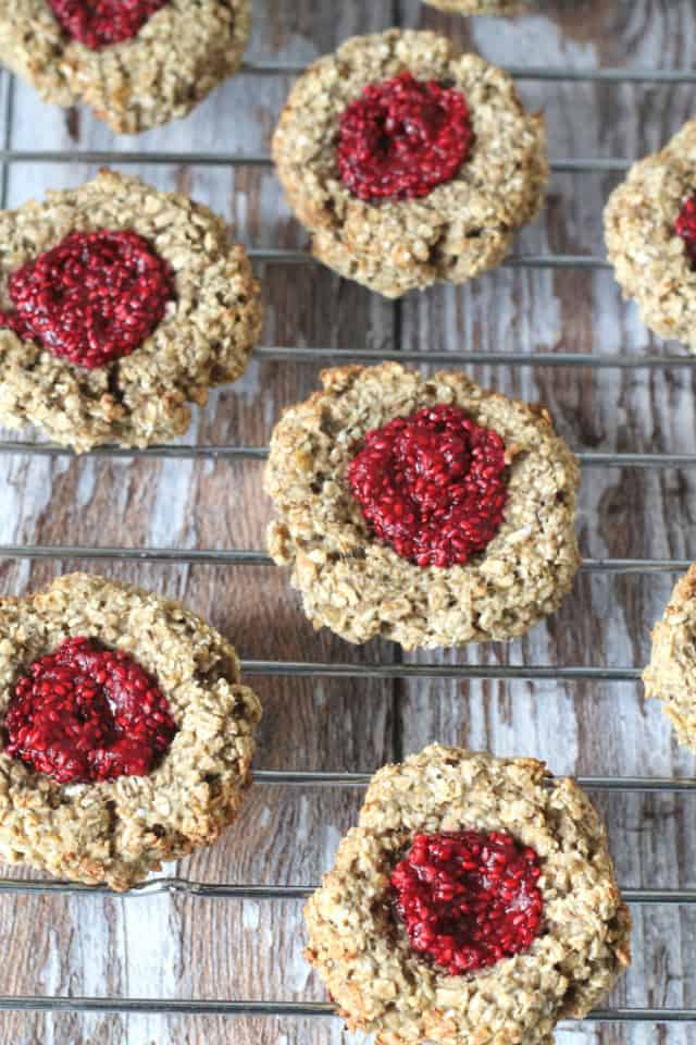 Oat thumbprint cookies from My Fussy Eater