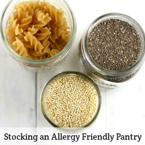stocking an allergy friendly pantry