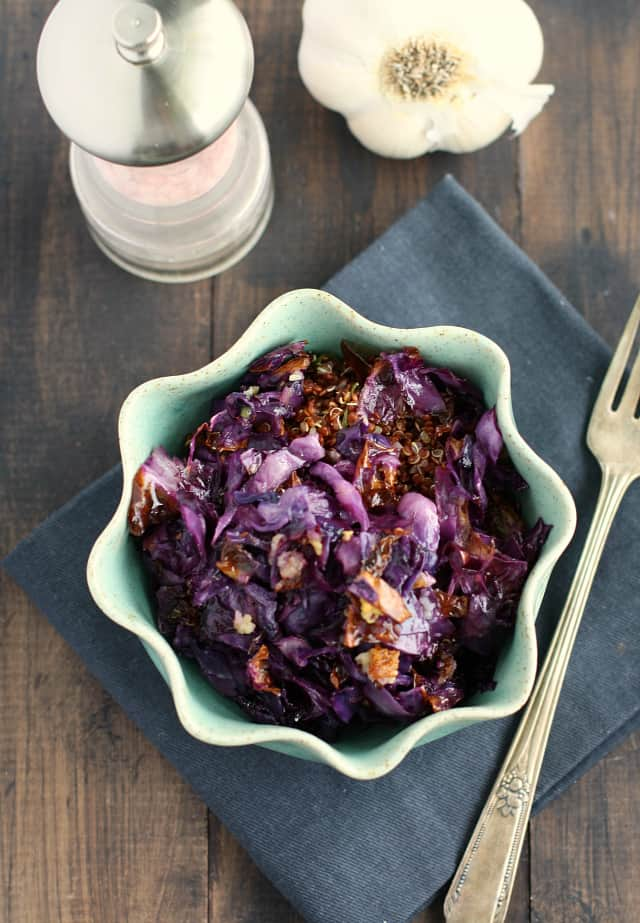 quinoa and roasted red cabbage recipe
