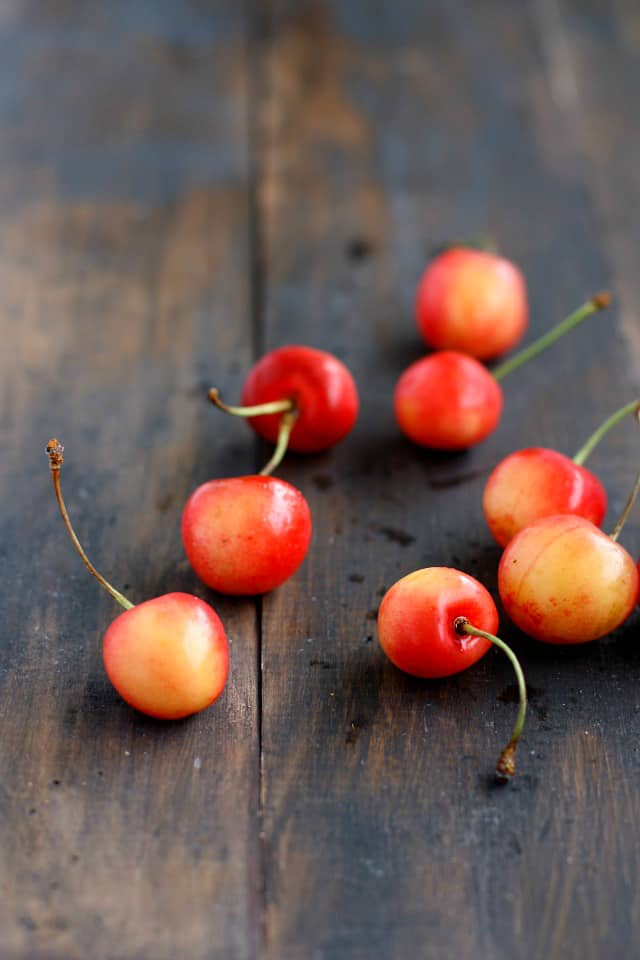 Queen Anne cherries are perfect for dipping in chocolate!