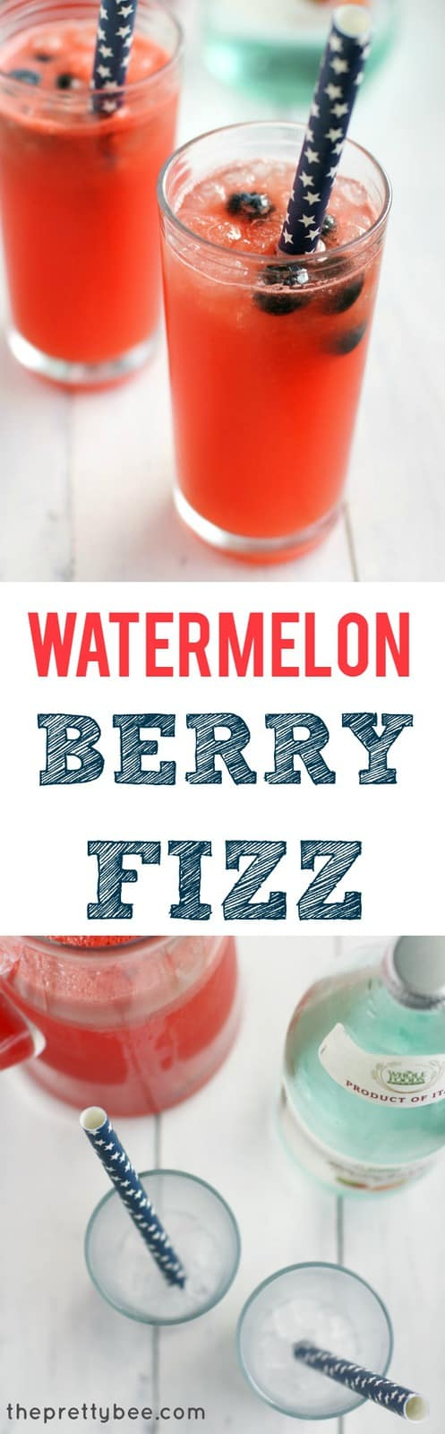 A delicious way to cool off this summer - watermelon berry fizz is a light and refreshing drink that everyone loves!