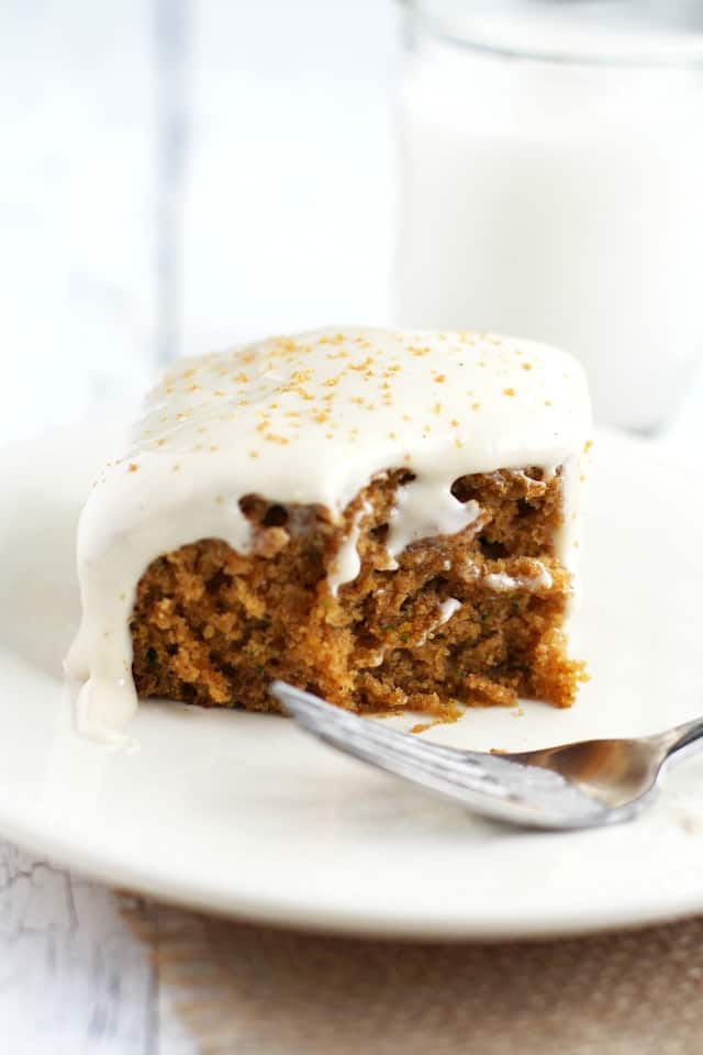 vegan and gluten free zucchini cake