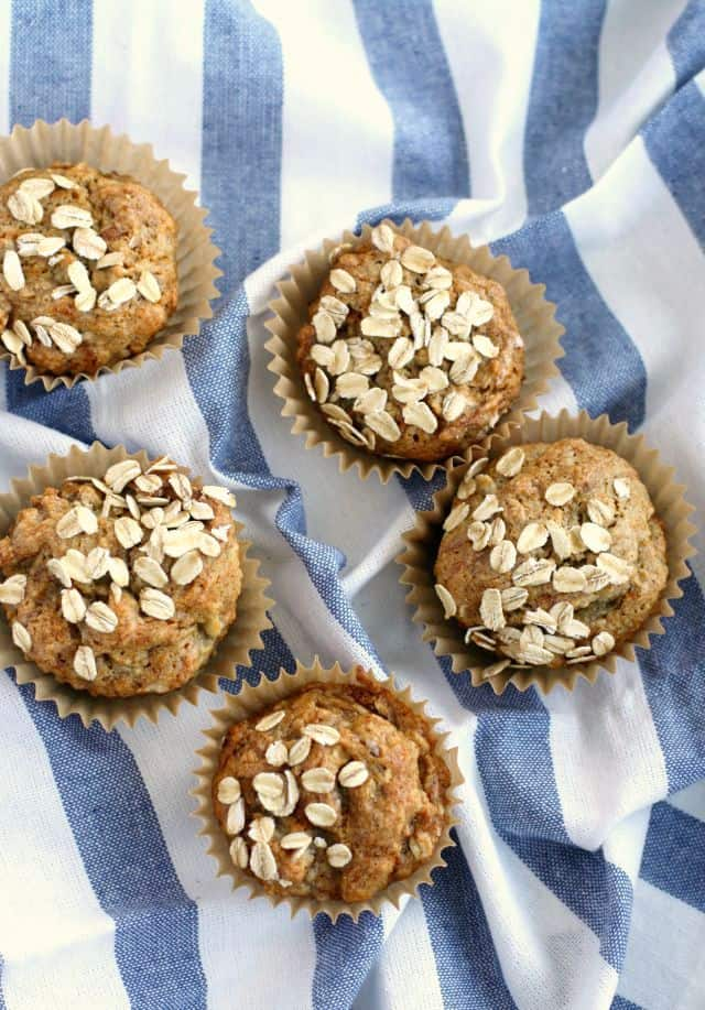 Easy gluten free and vegan banana muffin recipe. Simple, one bowl recipe that's delicious!
