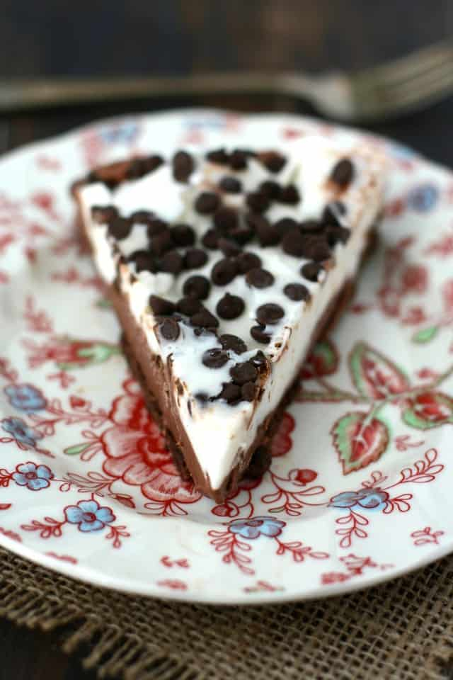 A creamy dairy free frozen pie with a cookie crust is a treat that everyone can enjoy! #glutenfree #shop ad