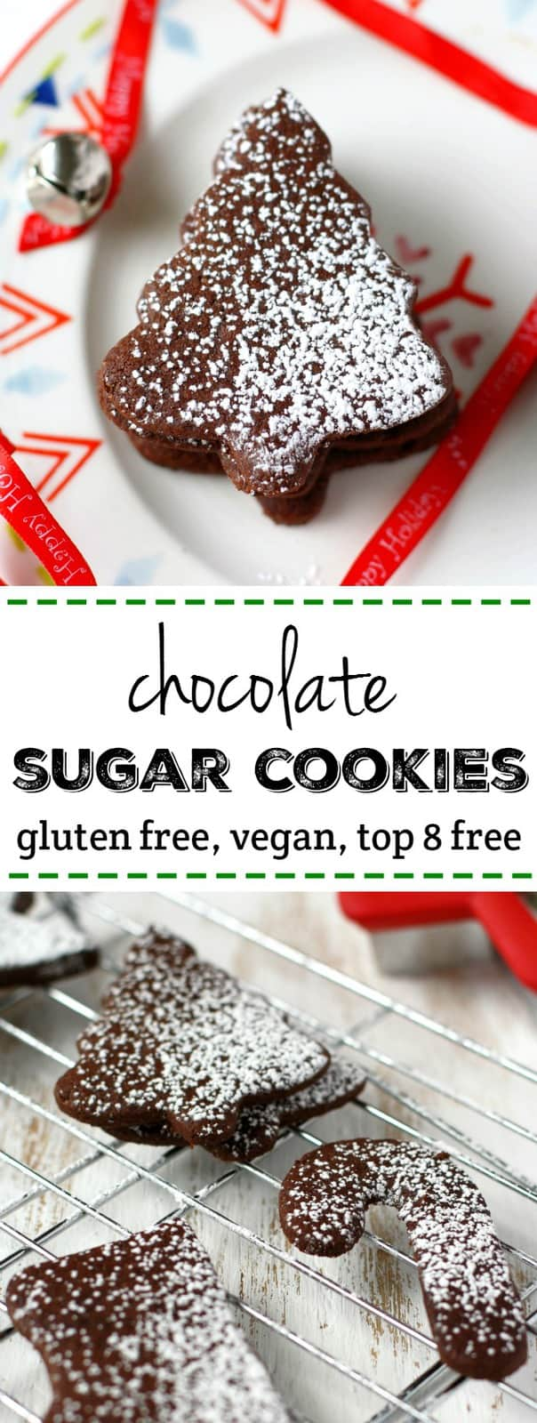 Gluten Free and Vegan Chocolate Sugar Cookies. - The Pretty Bee
