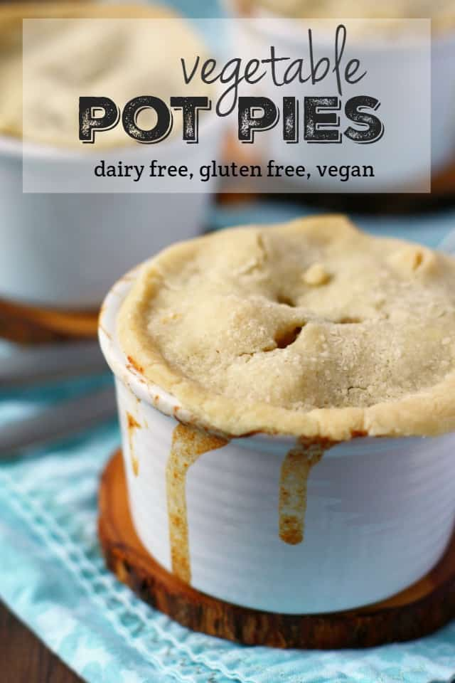 These mini pot pies are FULL of delicious veggies simmered in a creamy dairy free sauce. Pure comfort food. #glutenfree ad #dairyfree #vegan