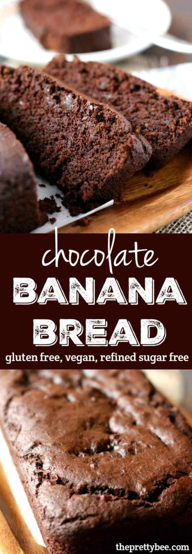 Chocolate Banana Bread (Gluten Free, Vegan, Refined Sugar Free ...