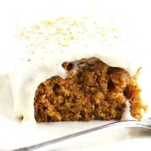 spiced zucchini cake with dairy free icing