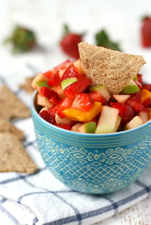 Easy fresh fruit salsa - the perfect summer treat!