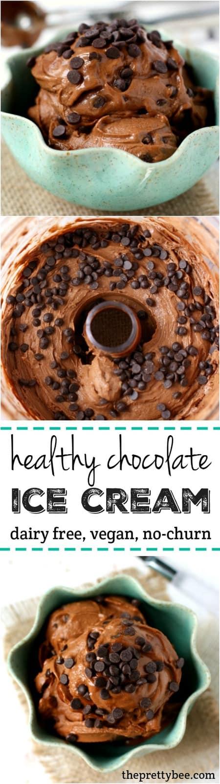 Healthy Double Chocolate Ice Cream. - The Pretty Bee