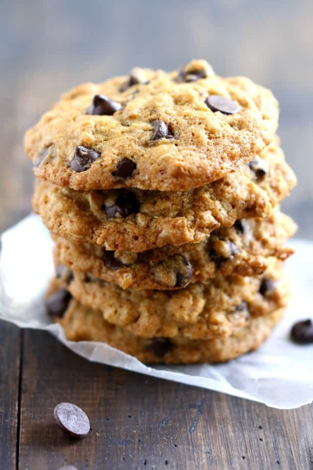 Toasted coconut chocolate chip cookies are chewy and delicious. The perfect vegan cookie!