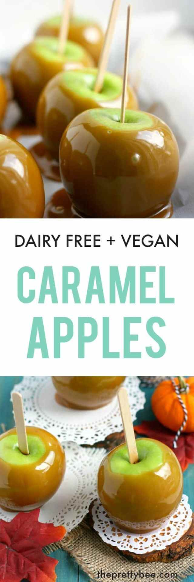 Delicious apples are coated in sweet, decadent caramel. A dairy free treat!