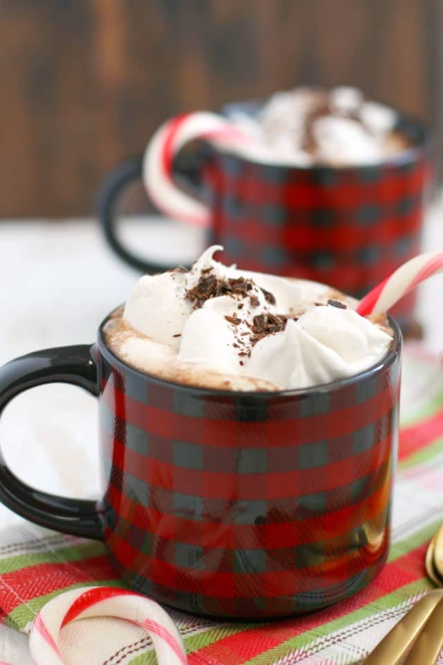 Dairy free peppermint hot cocoa is delicious and a wonderful way to warm up this winter!
