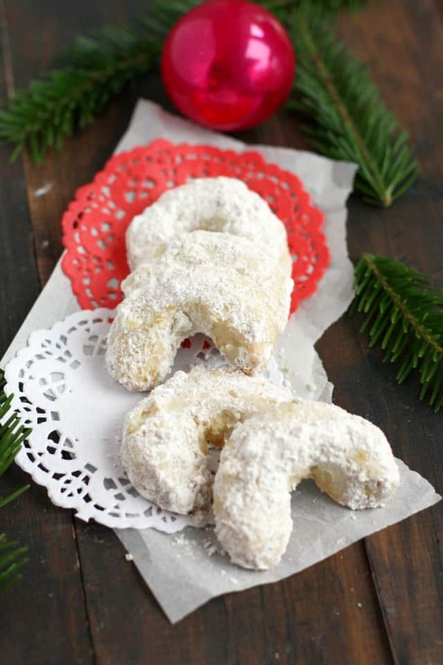 Light and buttery Bohemian crescent cookies are delicious and allergy friendly! A perfectly festive addition to your cookie tray!