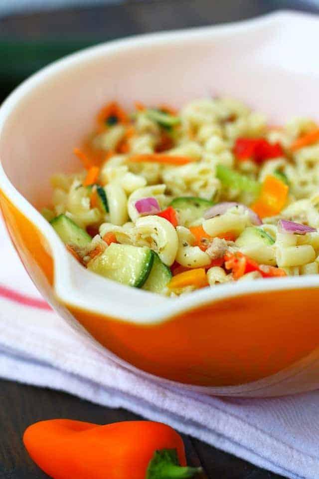 simple macaroni salad recipe without mayo