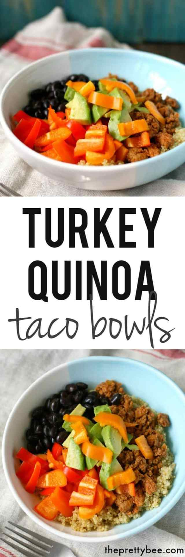 easy turkey taco bowls