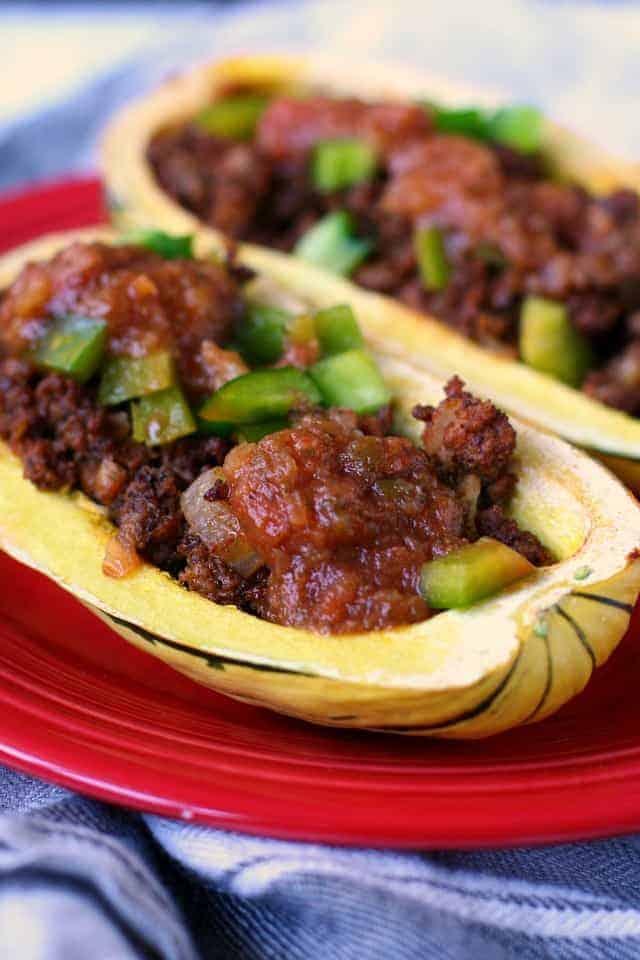 delicata squash taco boats