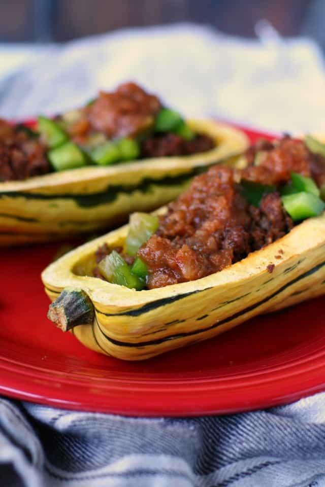 taco stuffed delicata squash