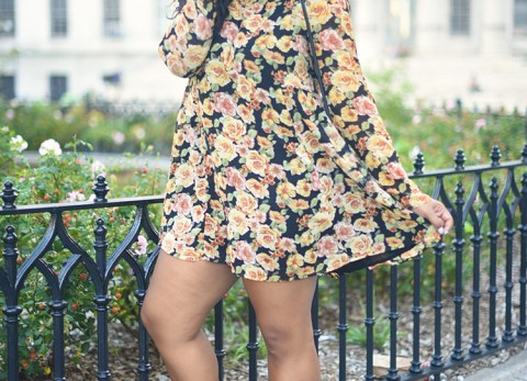 fall dress, floral, fall fashion