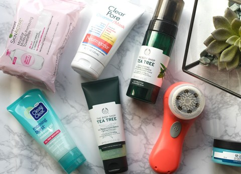beauty, skincare, clarisonic, neutrogena, the body shop