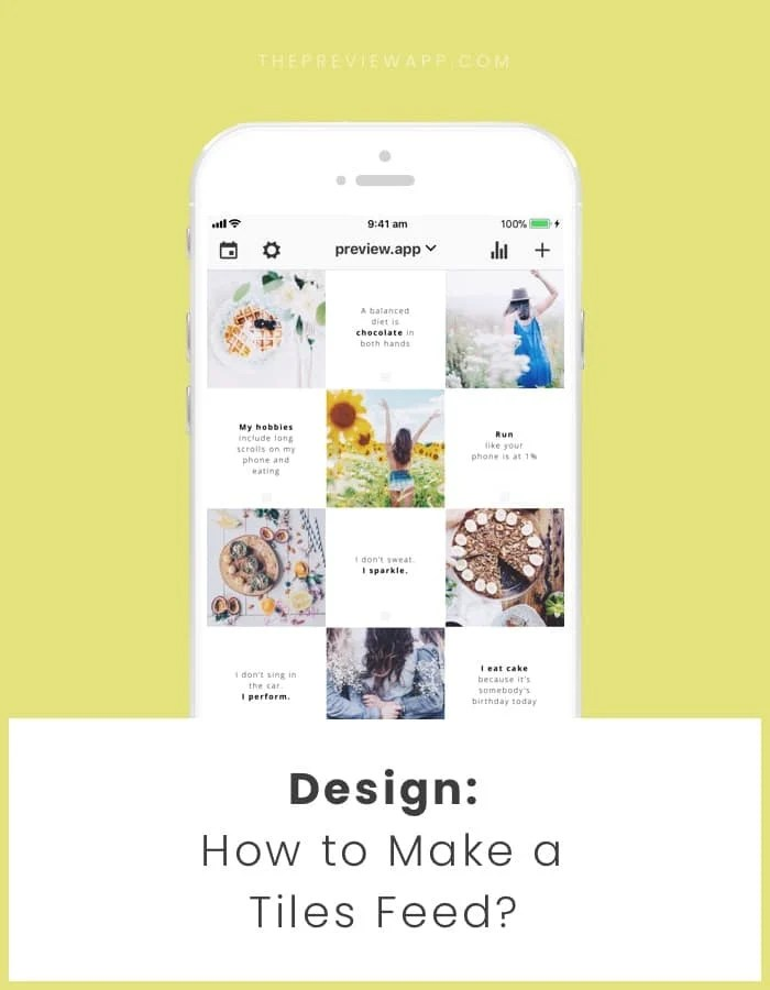 tiles feed instagram layout