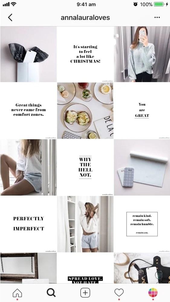 instagram grid layouts planner tips