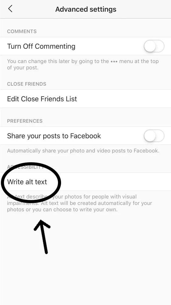 ALT text on Instagram Photos: How to use it Like a