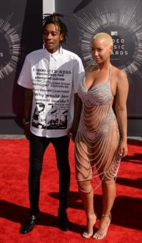 Amber Rose and Hsuband Wiz Khalifa