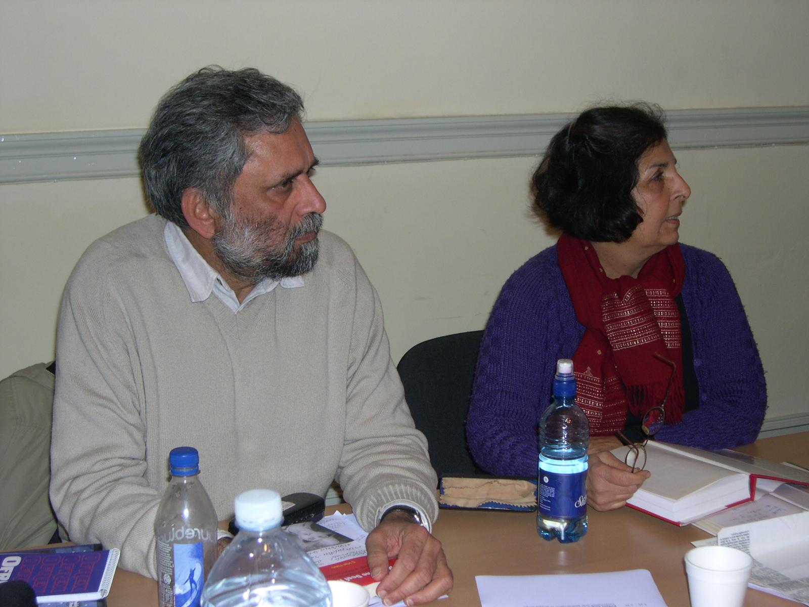 Pritam Singh and Pratima Mitchell