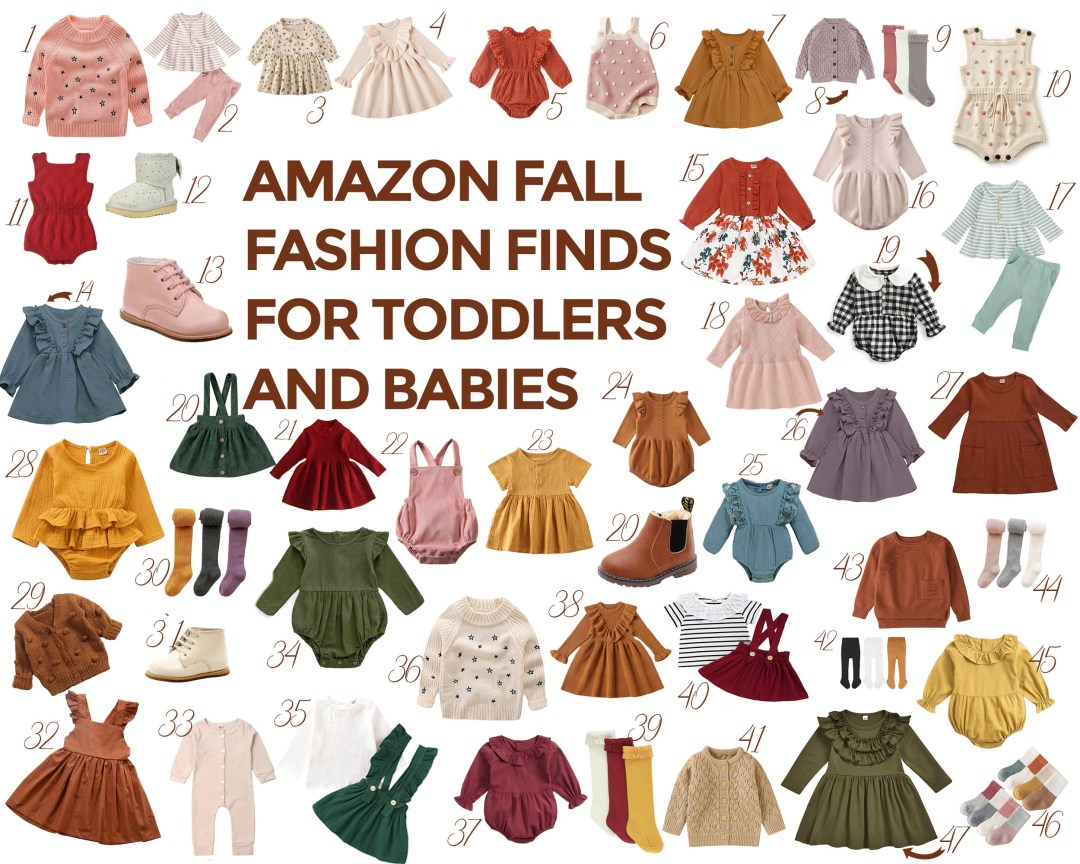 amazon fall fashion for toddlers and babies