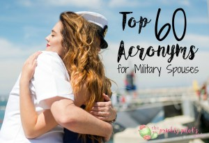 Top 60 Acronyms for Military Spouses