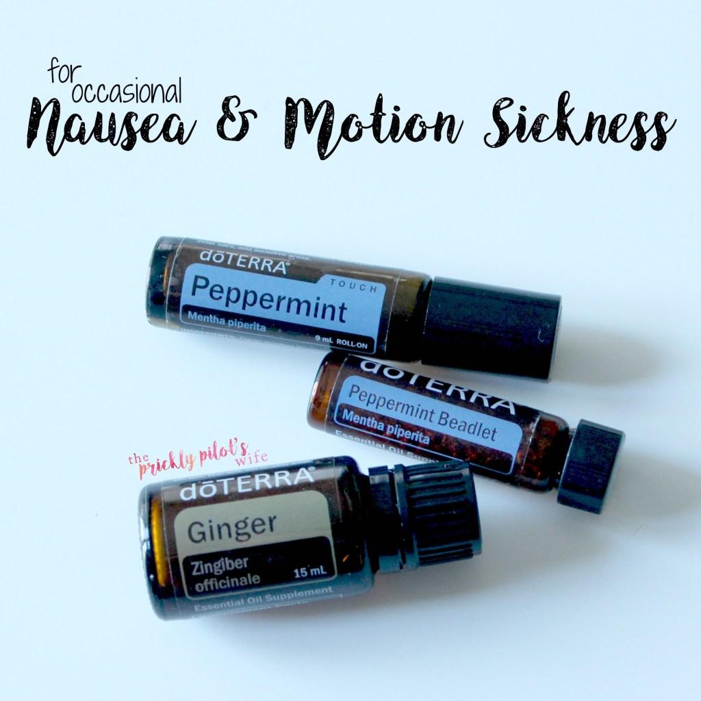 nausea motion sickness essential oils