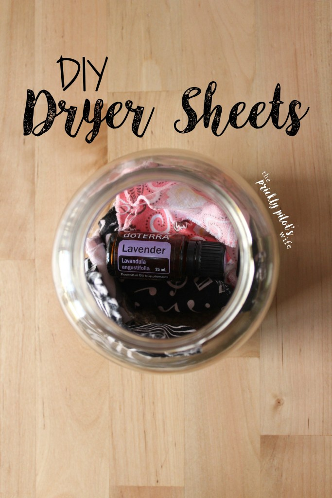DIY Dryer Sheets with Lavender Essential Oil