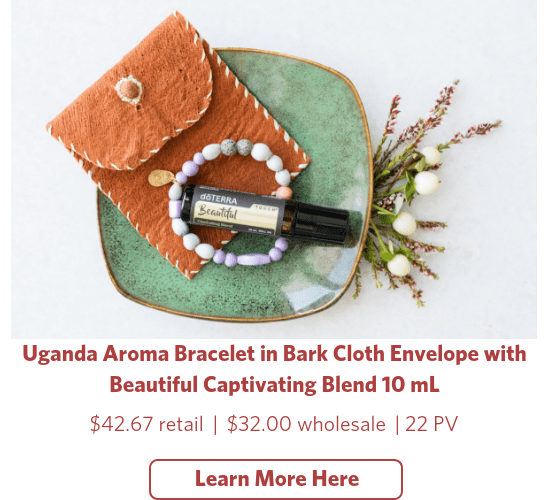 doterra holiday uganda aroma bracelet in bark cloth beautiful blend