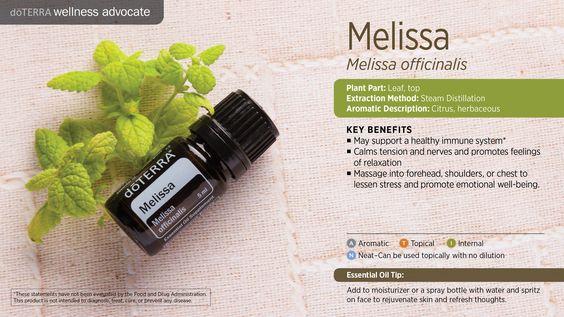 doterra melissa uses