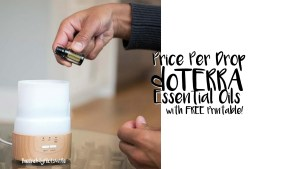 doTERRA Essential Oils Price Per Drop with Free Printable PDF