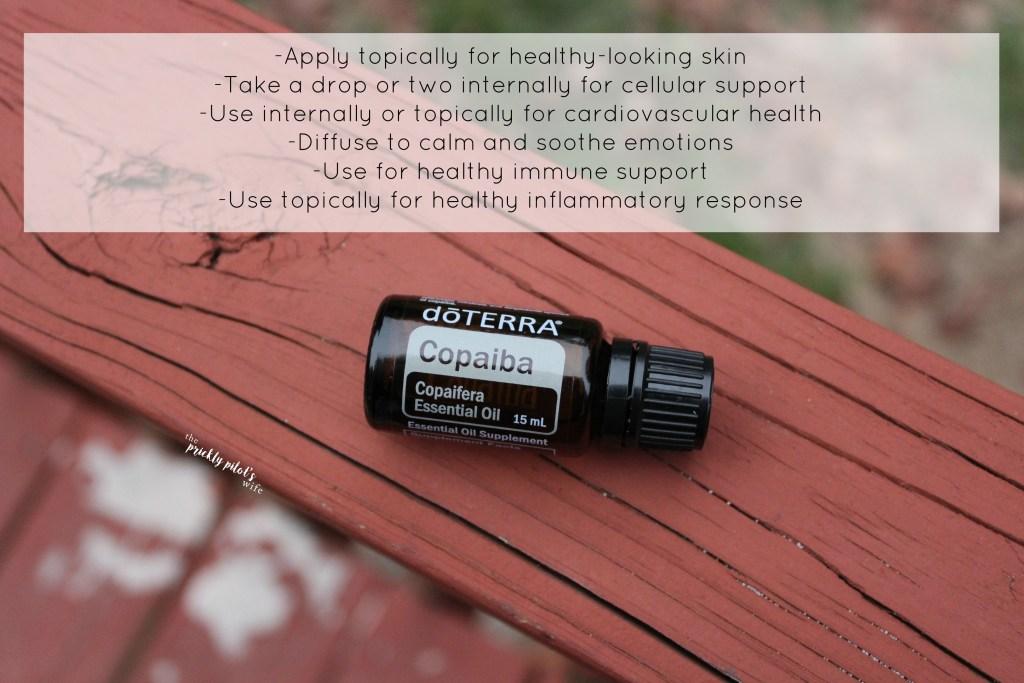 doterra copaiba essential oil uses