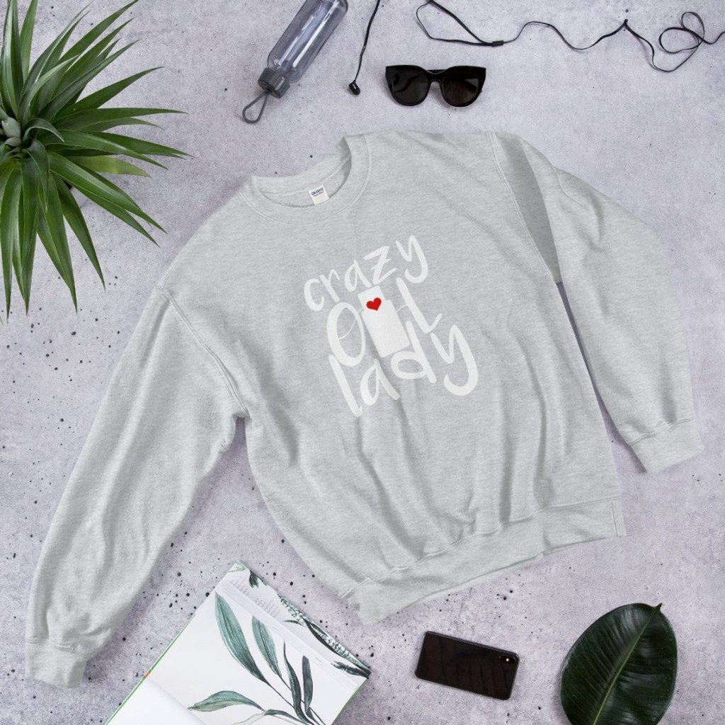 crazy oil lady sweater essential oil apparel