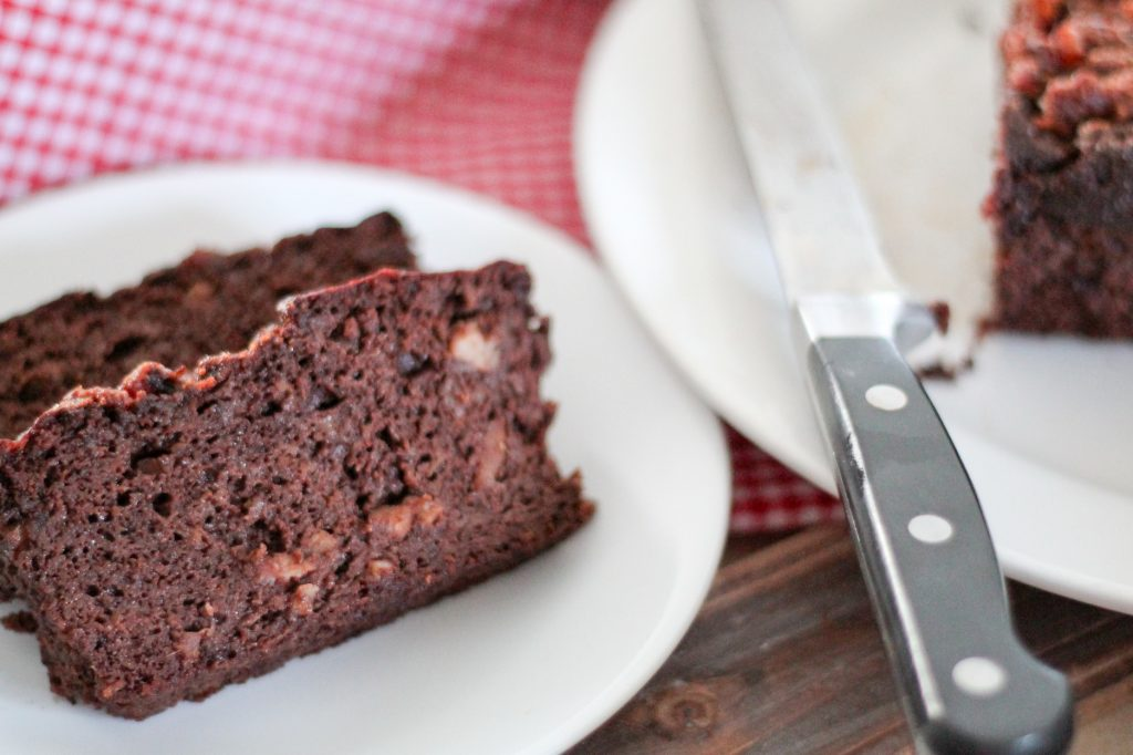 Bacon Chocolate Banana Bread. Chocolate and bacon, does it get any better? Rich but not too sweet, and of course grain free!