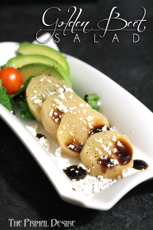 Golden Beet Salad - Beautiful and soooo flavorful! - http://theprimaldesire.com/golden-beet-salad/q