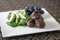 Sour Cherry Elk Meatballs - Lean elk pairs beautifully with sour cherries and rich balsamic reduction. Served alone, on a salad or with veggies it is a delicious and easy meal! - www.theprimaldesire.com/sour-cherry-elk-meatballs/