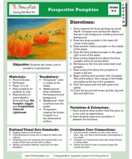 Fall Lesson on TPT-Perspective Pumpkins