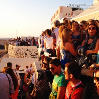 Waiting for the sunset in Oia... feeling alone