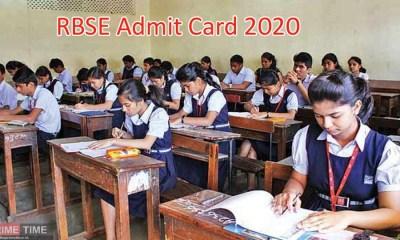 RBSE Admit Card 2020