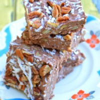 German Chocolate Cake Keto Fudge