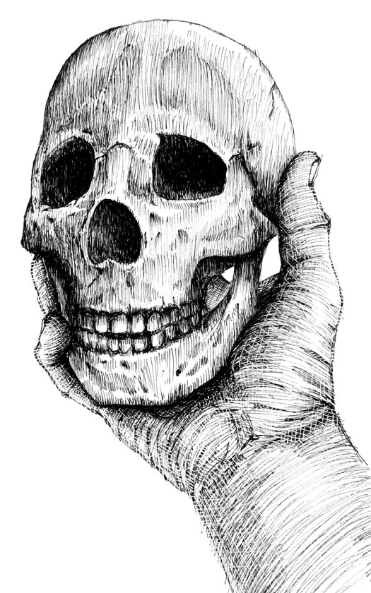 Gregory B. Stewart, art, skull, illustration,