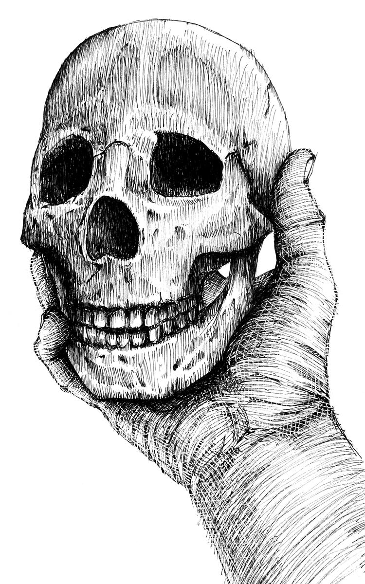 Gregory B. Stewart, art, skull, illustration,